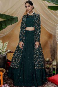 Indo western Lehenga Choli for Diwali - Shopkund