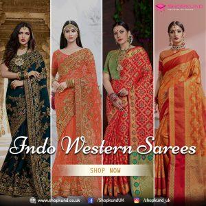 Indo Western Diwali Sarees - Shopkund
