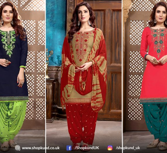 Latest Styles Of Patiala Salwar Suits For Upcoming Christmas Season