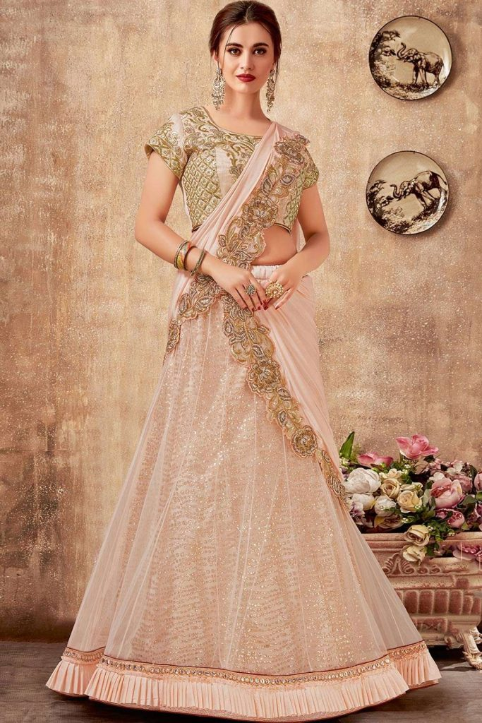 Designer Pink Lehenga choli online at Shopkund