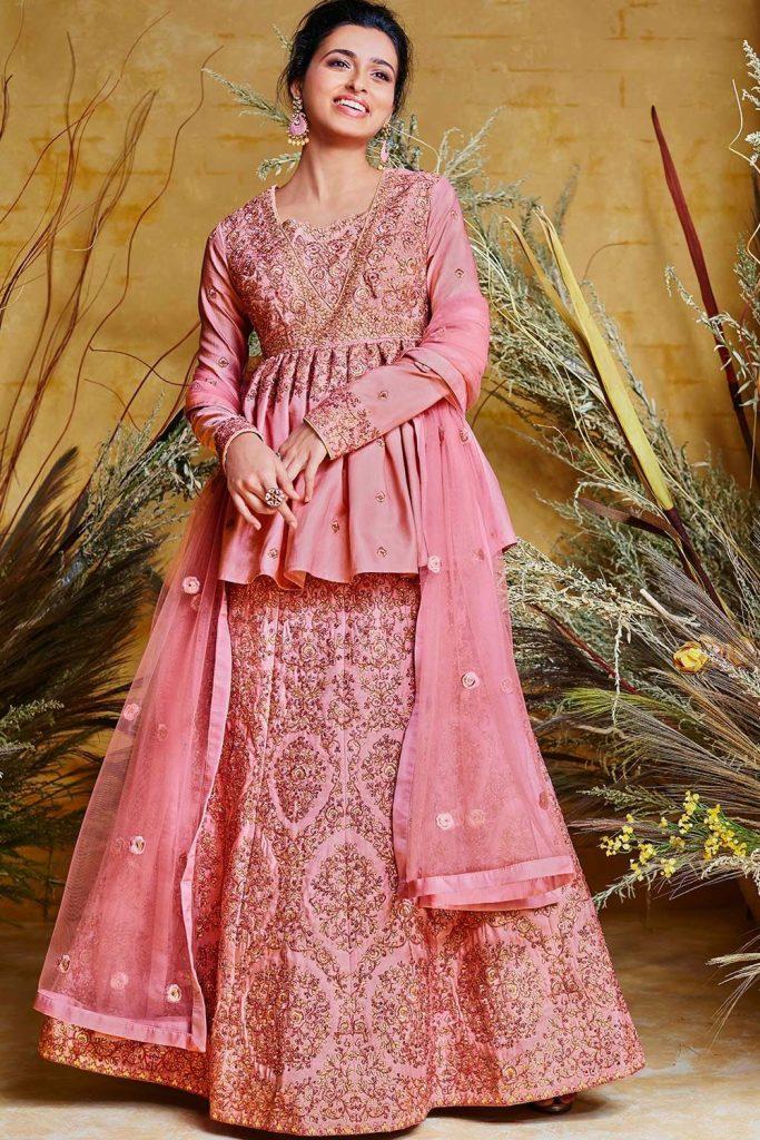 Pink Silk Anarkali Suits Uk - Shopkund