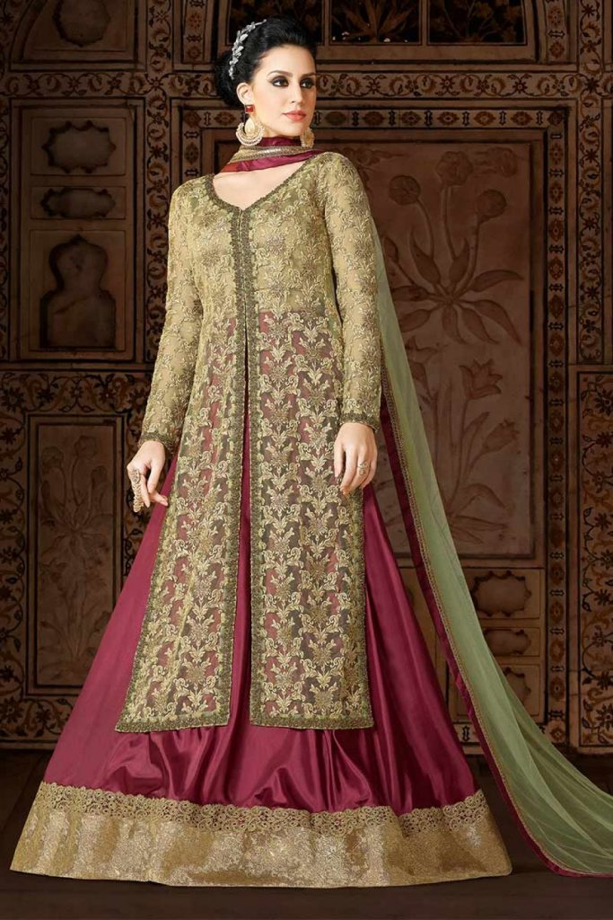Net Anarkali Suits - Shopkund
