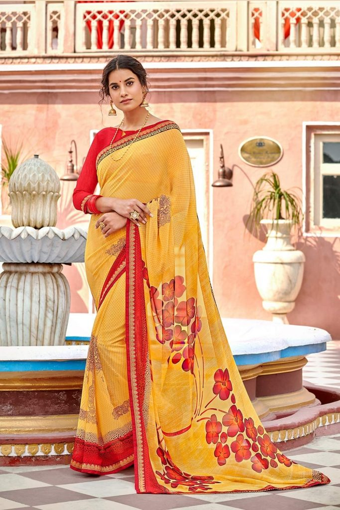 Printed sarees online uk - shopkund