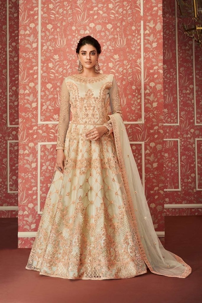 Designer Embroidered Anarkali suits - Shopkund