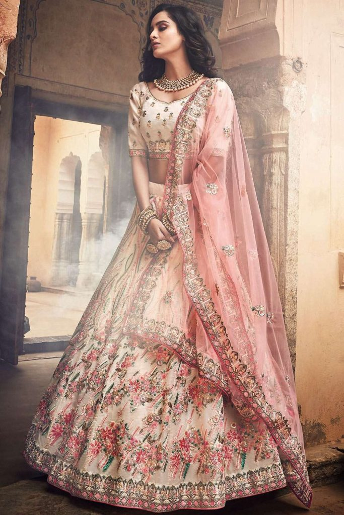 designer embroidered wedding lehenga choli uk - shopkund