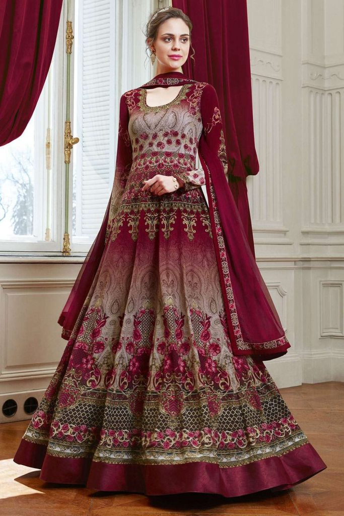 Floral Anarkali Suits - Shopkund