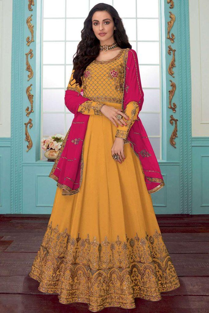 Yellow Anarkali Suit Online UK