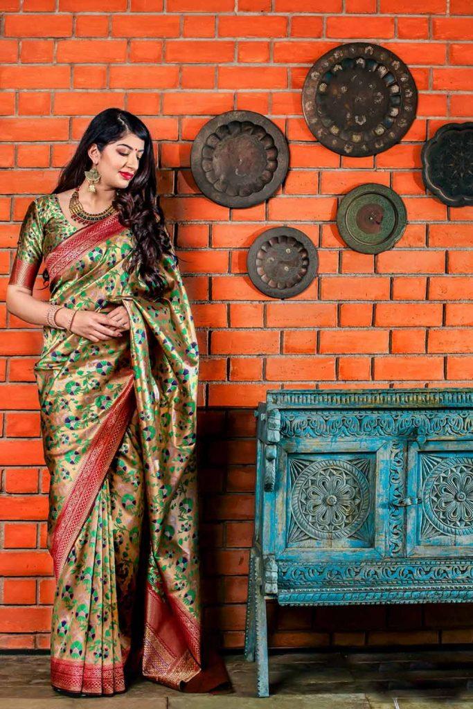 Designer Silk Saree Online - Shopkund