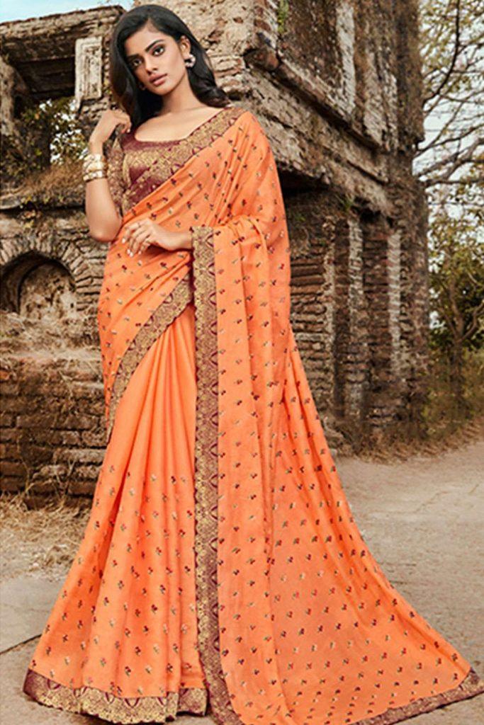 Designer wedding sarees online - shopkund