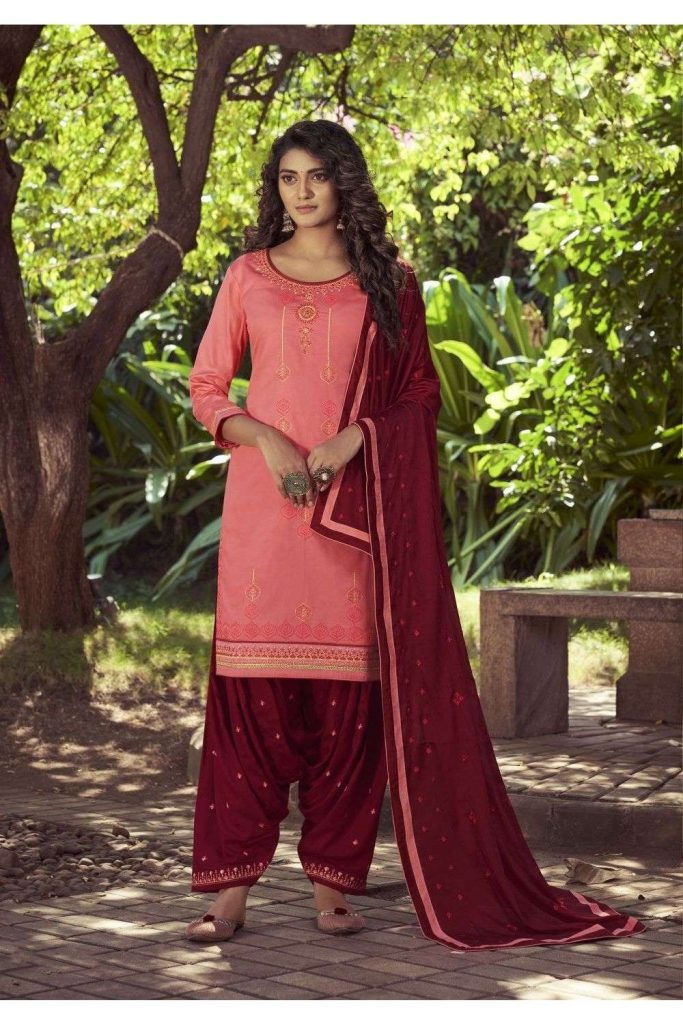 Pink Patiala Suits Online - Shopkund UK