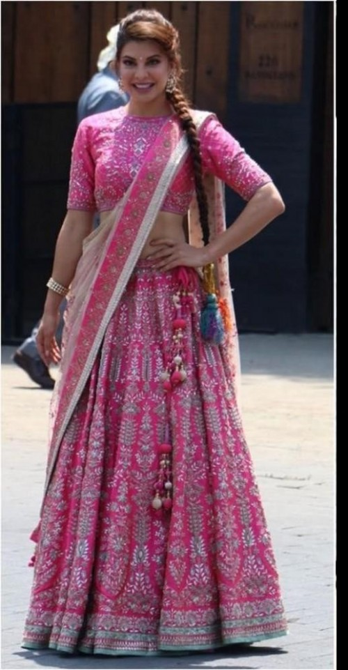 Pink lehenga choli online shopkund uk