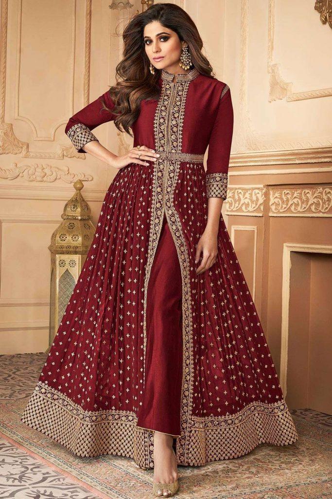 Maroon Eid Dresses 2021 UK - Shopkund