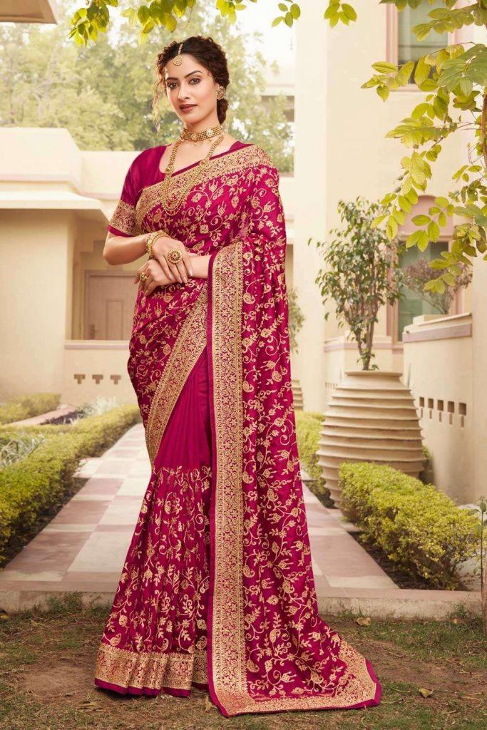Pink Wedding Sarees UK - Shopkund
